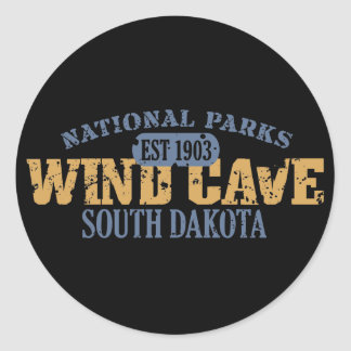 Wind Cave National Park Classic Round Sticker