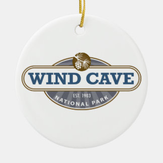 Wind Cave National Park Round Ceramic Ornament