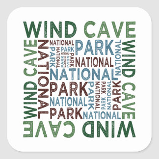 Wind Cave National Park Square Sticker
