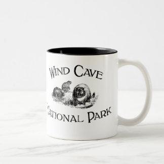 Wind Cave National Park Two-Tone Coffee Mug