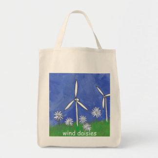 Wind Daisies Tote Bag