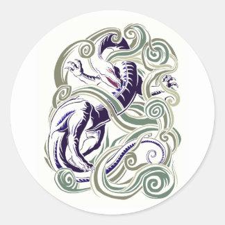 Wind dragon classic round sticker
