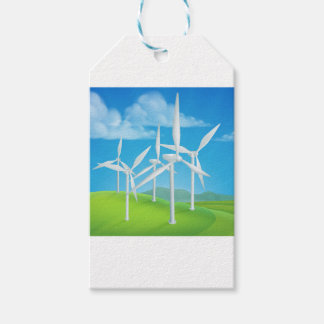 Wind Energy Power Turbines Generating Electricity Gift Tags