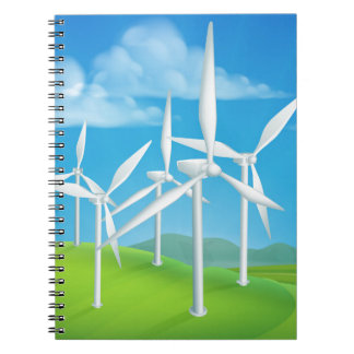 Wind Energy Power Turbines Generating Electricity Notebook