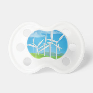 Wind Energy Power Turbines Generating Electricity Pacifier