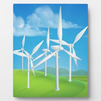 Wind Energy Power Turbines Generating Electricity Plaque