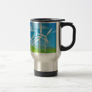Wind Energy Power Turbines Generating Electricity Travel Mug