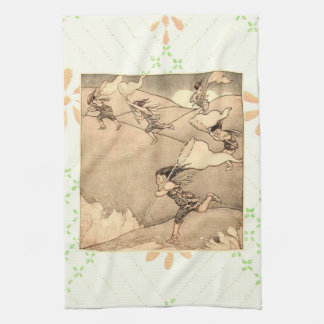 Wind Faeries Catching Wind Hand Towels