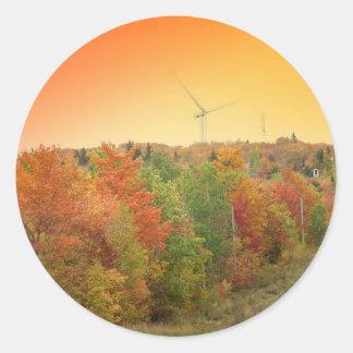 Wind Farm 2 Classic Round Sticker