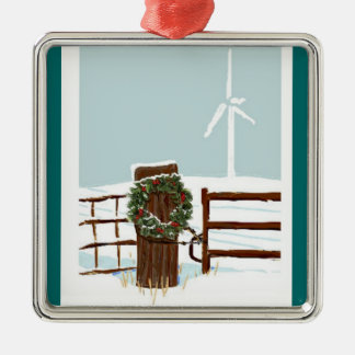 Wind farm Christmas Ornament