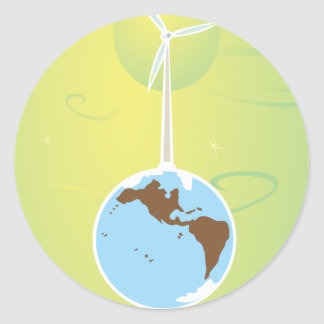 Wind farm classic round sticker
