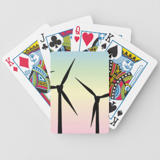 Wind Farm Morning Bicycle Playing Cards