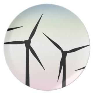 Wind Farm Morning Dinner Plate