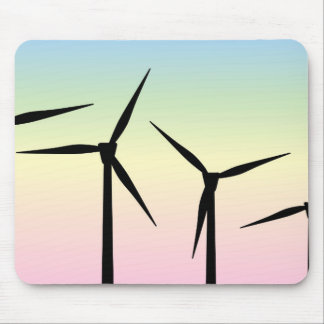 Wind Farm Morning Mouse Pad