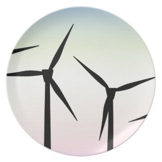 Wind Farm Morning Plate