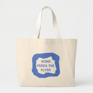 Wind feeds the flyer .png jumbo tote bag