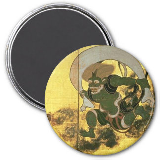 Wind God 3 Inch Round Magnet