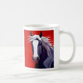 Wind in His Mane coffee mug