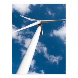 Wind mill power generator postcard