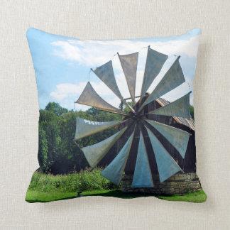 wind mill sibiu romania architecture history herit throw pillow