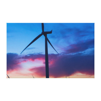 Wind Power green energy in El Central California Canvas Print