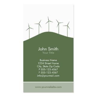Wind power - green turbines business card template