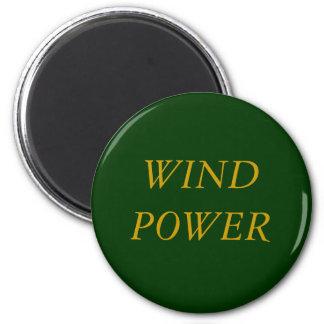 WIND POWER 2 INCH ROUND MAGNET