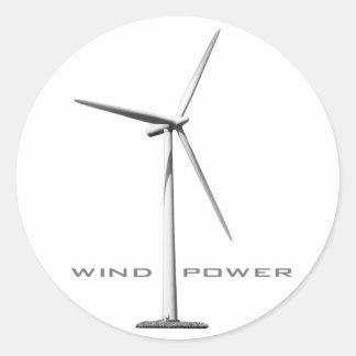 Wind Power (set of 6/20) Round Sticker