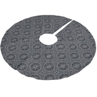 Wind Rose Compass Pattern Brushed Polyester Tree Skirt