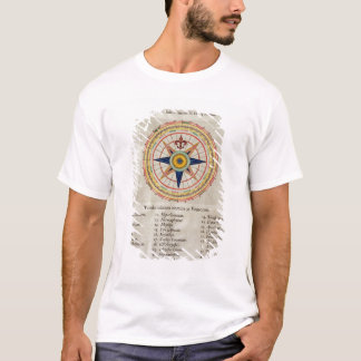 Wind rose with the 32 winds ofthe world T-Shirt
