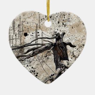 WIND SPIRIT CERAMIC HEART ORNAMENT