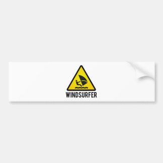 Wind surfer bumper sticker