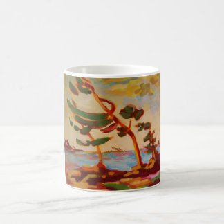 Wind-swept trees coffee mug