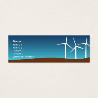 Wind Towers - Skinny Mini Business Card