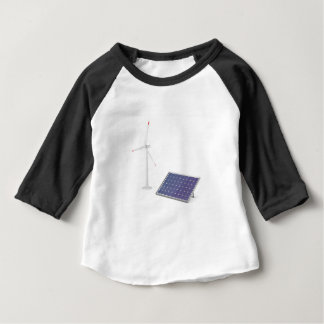 Wind turbine and solar panel baby T-Shirt