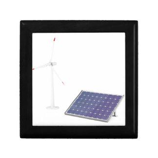 Wind turbine and solar panel gift box