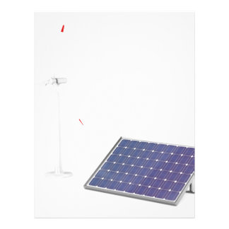 Wind turbine and solar panel letterhead