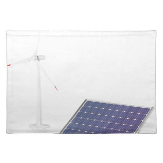Wind turbine and solar panel placemat