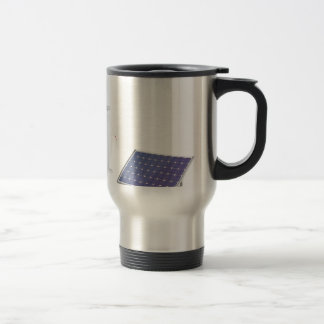 Wind turbine and solar panel travel mug