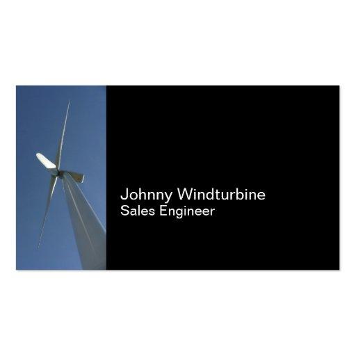 Wind turbine business card