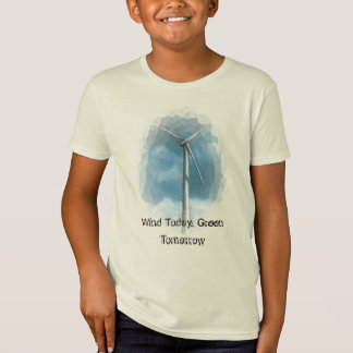 WIND TURBINE GO GREEN SHIRT