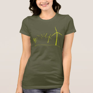 Wind Turbines Green T-Shirt