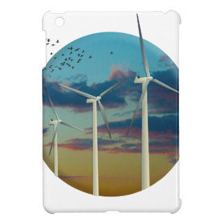 Wind Turbines Painted Sky Cover For The iPad Mini