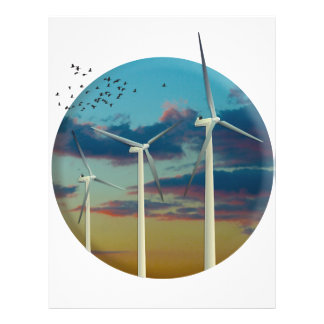 Wind Turbines Painted Sky Letterhead