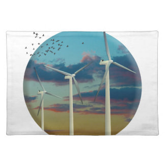Wind Turbines Painted Sky Placemat
