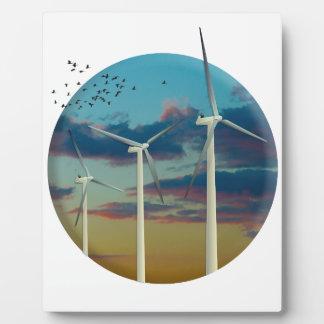 Wind Turbines Painted Sky Plaque