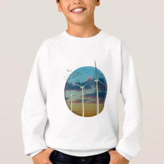 Wind Turbines Painted Sky Sweatshirt