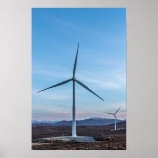 Wind Turbines Poster/Print Poster