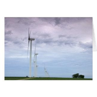 Wind Turbines Skyward Card