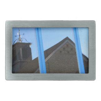 Wind Vane in the Window Rectangular Belt Buckles